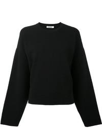 Sweat-shirt noir Jil Sander