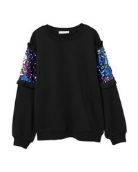 Sweat-shirt noir Mango