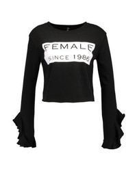 Sweat-shirt noir Missguided