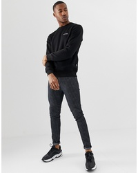 Sweat-shirt noir Nicce London