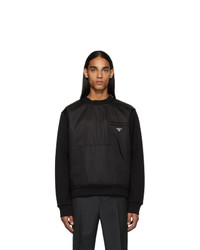 Sweat-shirt noir Prada