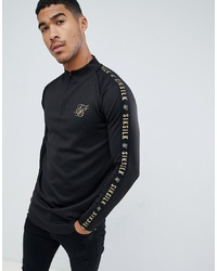 Sweat-shirt noir Siksilk