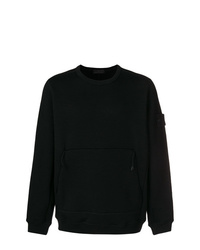 Sweat-shirt noir Stone Island