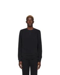 Sweat-shirt noir Sunspel