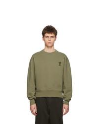 Sweat-shirt olive AMI Alexandre Mattiussi