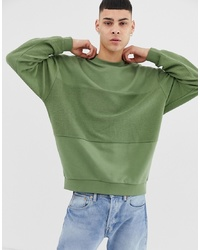 Sweat-shirt olive ASOS DESIGN