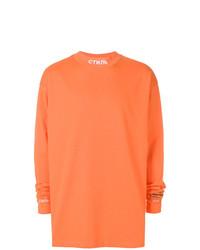 Sweat-shirt orange Heron Preston