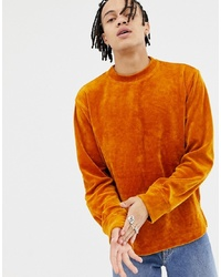 Sweat-shirt orange Weekday