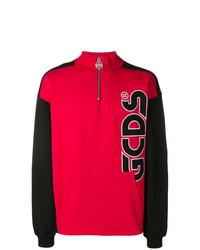 Sweat-shirt orné rouge Gcds