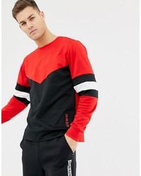 Sweat-shirt rouge et noir Calvin Klein Performance