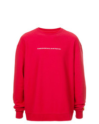 Sweat-shirt rouge Heron Preston