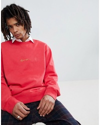 Sweat-shirt rouge Mennace