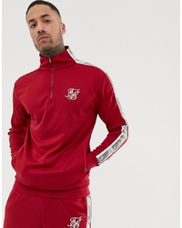 Sweat-shirt rouge Siksilk