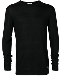 Sweat-shirt texturé noir Versace
