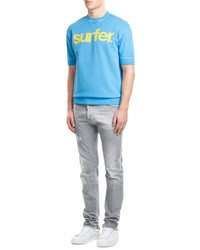 Sweat-shirt turquoise