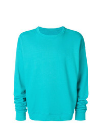 Sweat-shirt turquoise The Elder Statesman