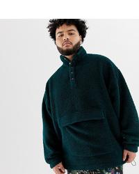 Sweat-shirt vert foncé ASOS DESIGN
