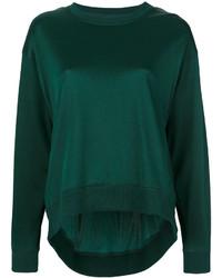 Sweat-shirt vert foncé MM6 MAISON MARGIELA