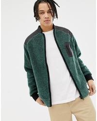 Sweat-shirt vert foncé Weekday