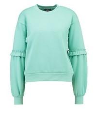 Sweat-shirt vert menthe Topshop