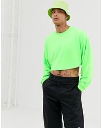 Sweat-shirt vert ASOS DESIGN