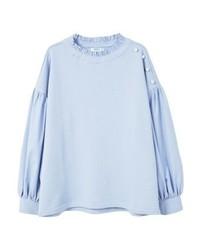 Sweat-shirt violet clair Mango