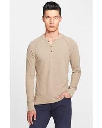 T-shirt à col boutonné beige