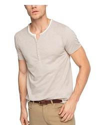 T-shirt à col boutonné beige Esprit