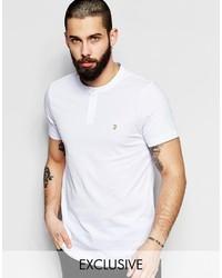 T-shirt à col boutonné blanc Farah