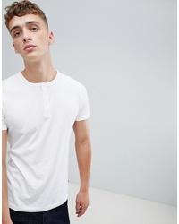 T-shirt à col boutonné blanc French Connection