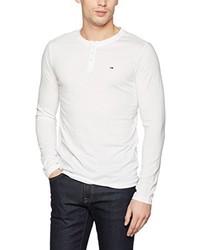 T-shirt à col boutonné blanc Hilfiger Denim