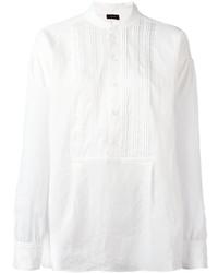 T-shirt à col boutonné blanc Joseph