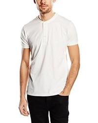 T-shirt à col boutonné blanc Lee