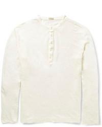 T-shirt à col boutonné blanc Massimo Alba