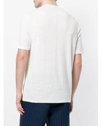 T-shirt à col boutonné blanc Roberto Collina