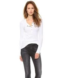 T-shirt à col boutonné blanc Splendid