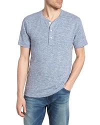 T-shirt à col boutonné bleu clair