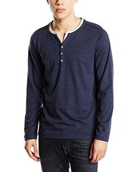 T-shirt à col boutonné bleu marine Esprit