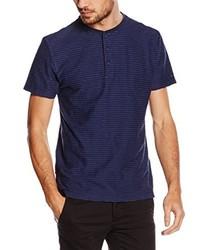 T-shirt à col boutonné bleu marine Tommy Hilfiger