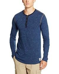 T-shirt à col boutonné bleu Levi's