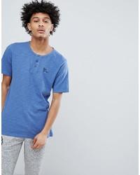 T-shirt à col boutonné bleu Tokyo Laundry
