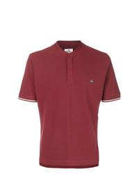 T-shirt à col boutonné bordeaux Vivienne Westwood