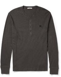 T-shirt à col boutonné gris foncé Burberry