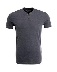 T-shirt à col boutonné gris foncé Celio