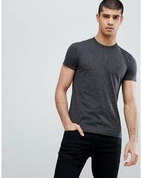 T-shirt à col boutonné gris foncé French Connection