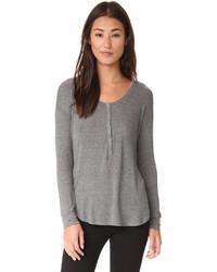 T-shirt à col boutonné gris foncé Splendid
