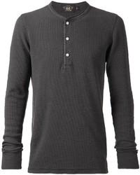 T-shirt à col boutonné gris foncé