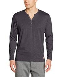 T-shirt à col boutonné gris foncé Tom Tailor