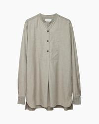 T-shirt à col boutonné gris