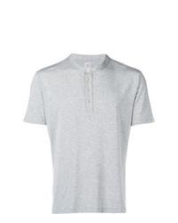 T-shirt à col boutonné gris Eleventy